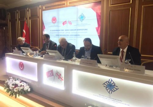 Musa Gasimli made presentation in the international scientific symposium on Turkish-Georgian relations
